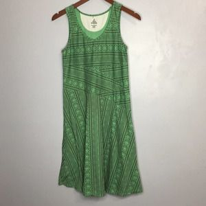 Prana fit and flare knit casual printed dress sz S